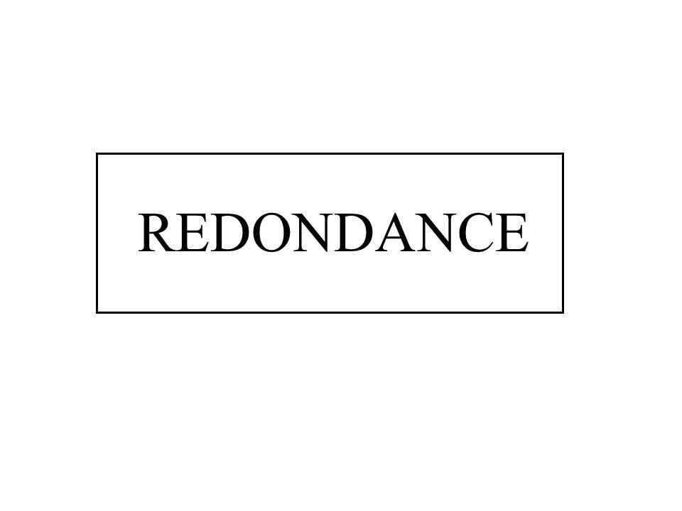 REDONDANCE