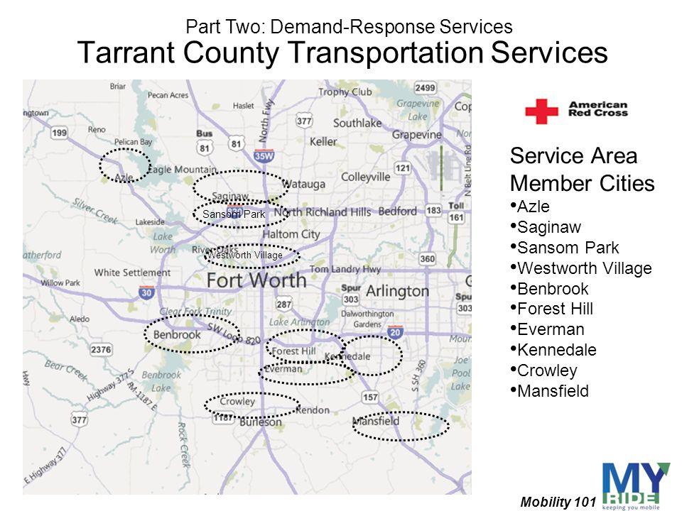 Tarrant County Transportation Services Sansom Park Westworth Village Service Area Member Cities Azle Saginaw Sansom Park Westworth Village Benbrook Fo