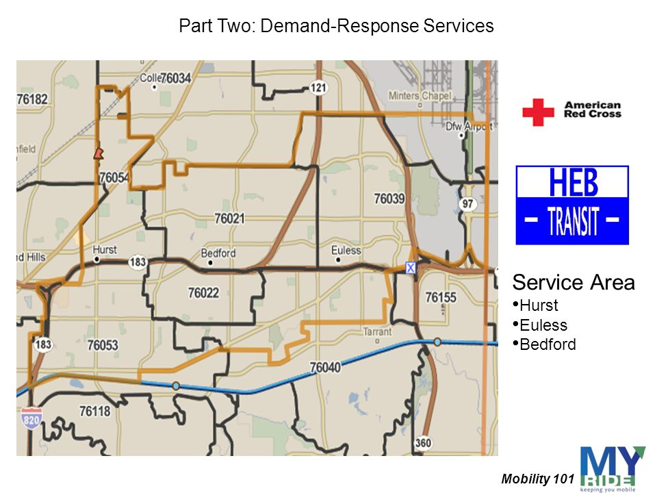 Service Area Hurst Euless Bedford Part Two: Demand-Response Services Mobility 101