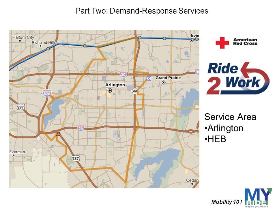 Service Area Arlington HEB Part Two: Demand-Response Services Mobility 101