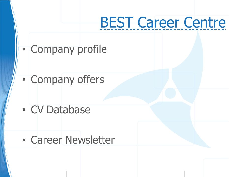 BEST Career Centre Company profile Company offers CV Database Career Newsletter