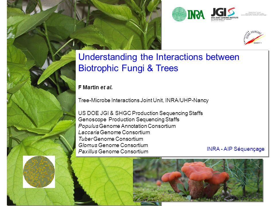 Understanding the Interactions between Biotrophic Fungi & Trees F Martin et al.