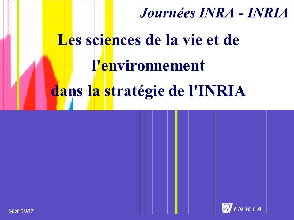 Les sciences de la vie et de l environnement dans la stratégie de l INRIA Journées INRA - INRIA Mai 2007