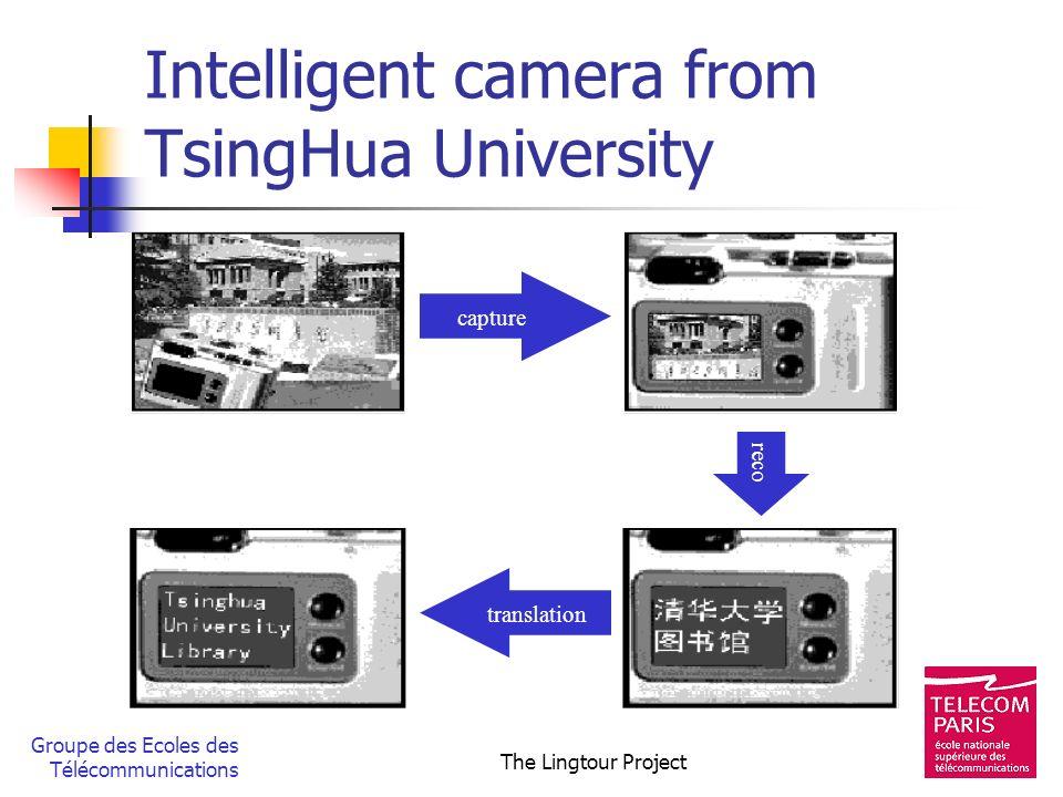 Groupe des Ecoles des Télécommunications The Lingtour Project Intelligent camera from TsingHua University capture reco translation