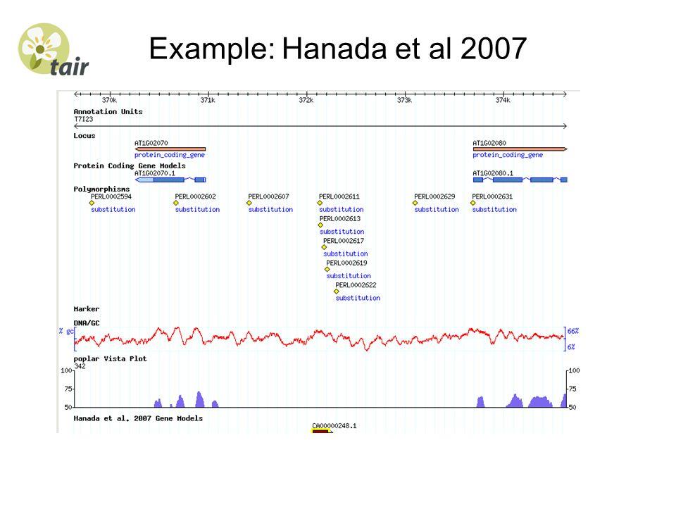 Example: Hanada et al 2007