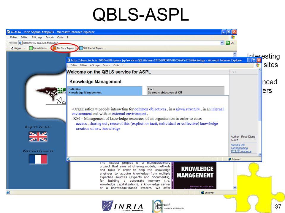37 QBLS-ASPL Interesting Web sites for advanced learners