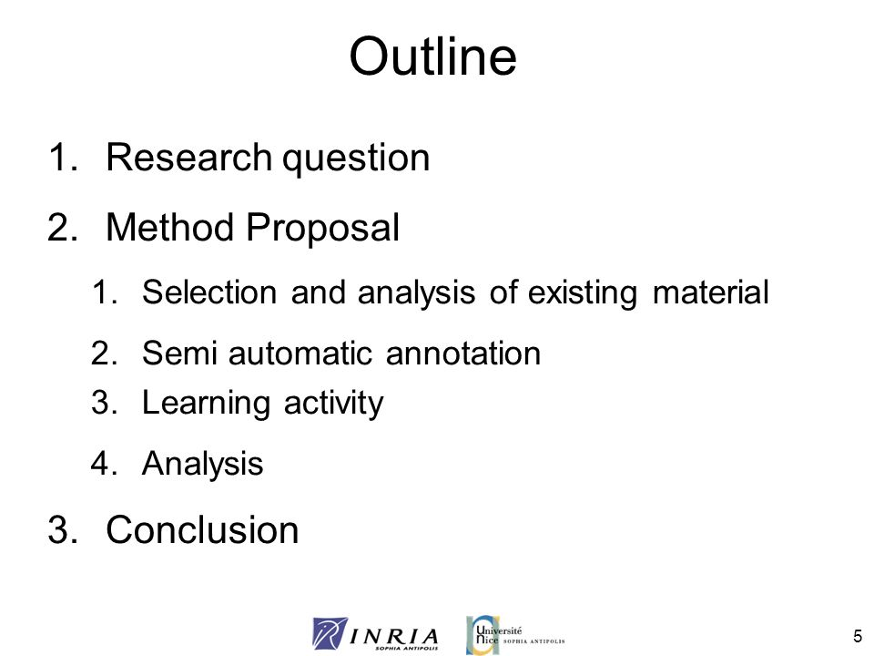 outline for research project proposal