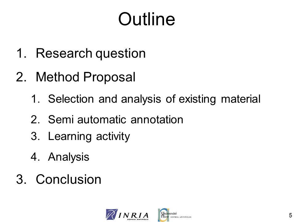 46 Conclusion (2) Semantic web interests: –Existing tools, Corese, Protégé, etc.