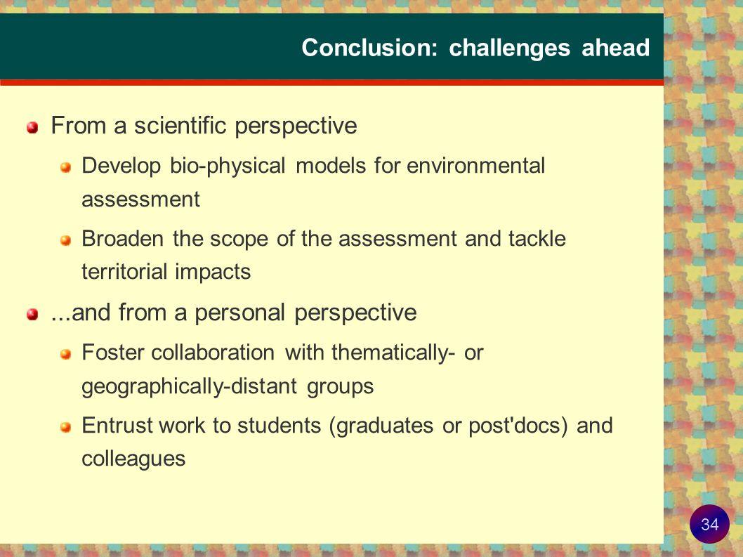 33 Bio-energy, a model frame-work for assessment .