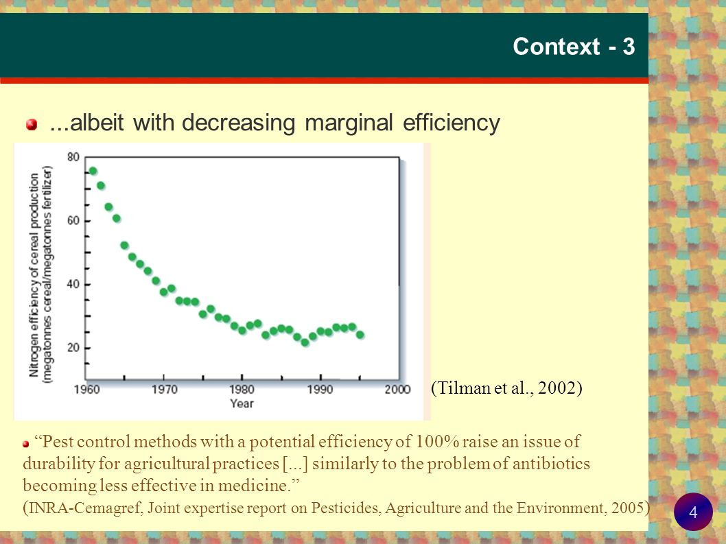 3 Context - 2...currently met with increased reliance on exogenous inputs...