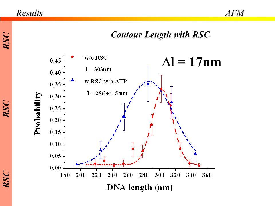 Contour Length with RSC ResultsAFM l = 17nm RSC