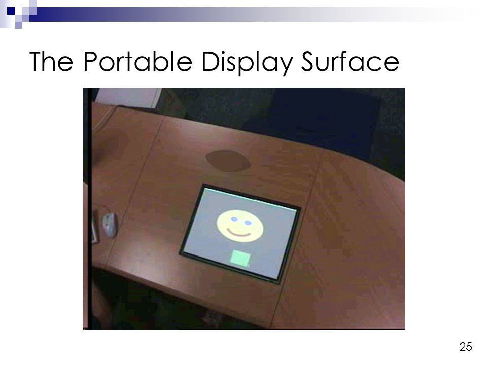 25 The Portable Display Surface