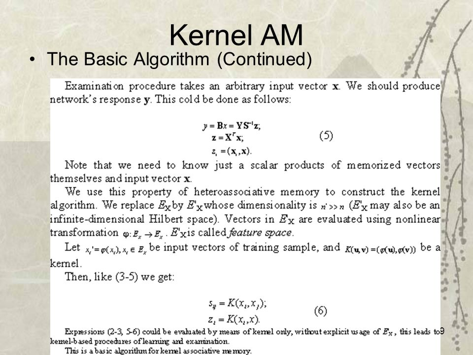 49 Kernel AM The Basic Algorithm (Continued)