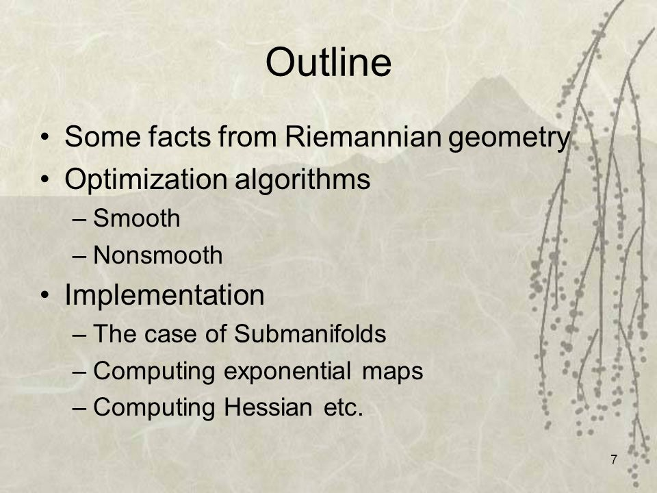 8 Some concepts from Riemannian Geometry Geodesics