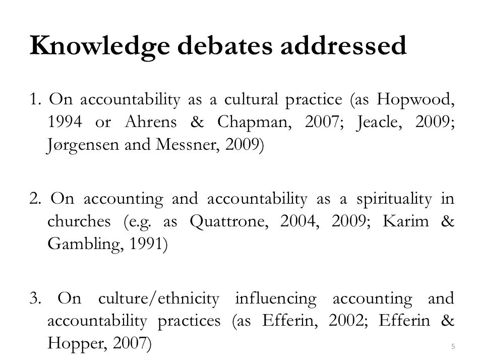 Knowledge debates addressed 1.