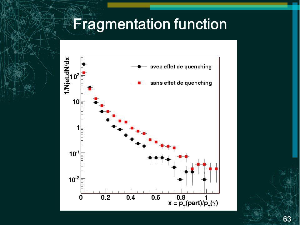 63 Fragmentation function