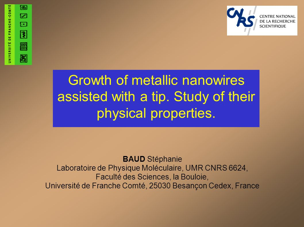 Conclusion of the second part The tip as a fixed or a mobile defect can be used: to build monoatomic nanowires to measure the diffusion coefficient Perspectives: Regarding the sorting of different species, there is still some work to be done.