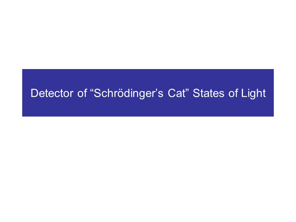 Detector of Schrödingers Cat States of Light