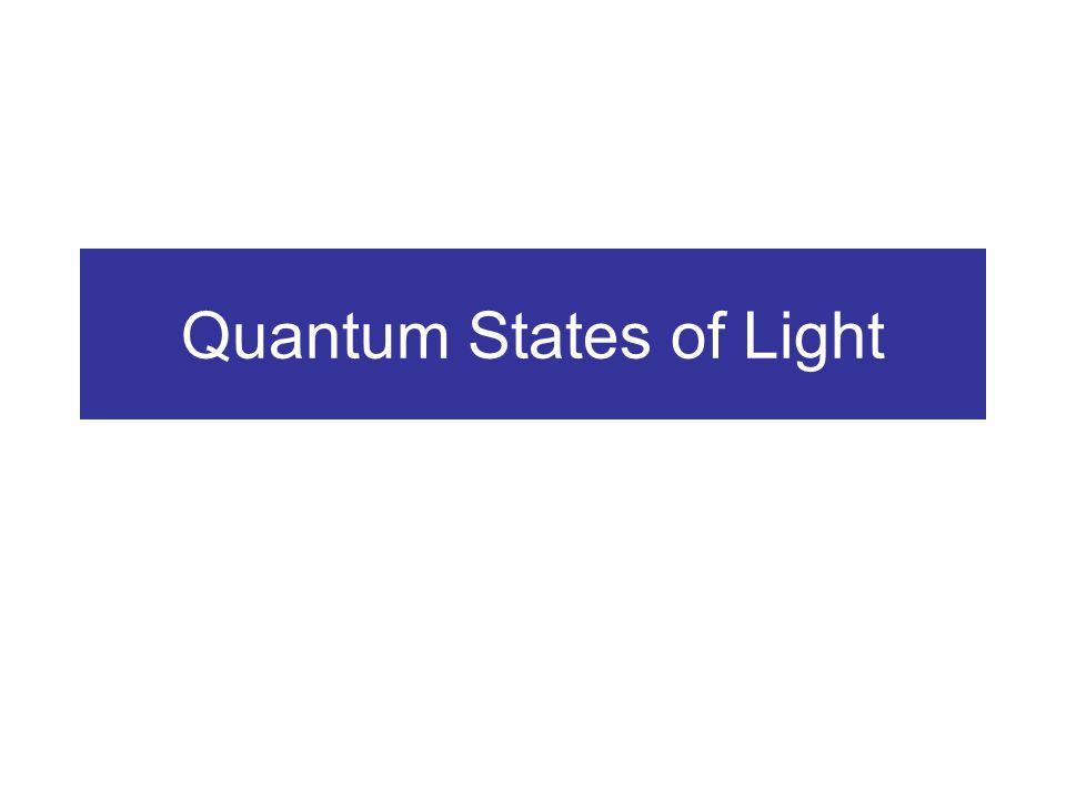 Quantum States of Light