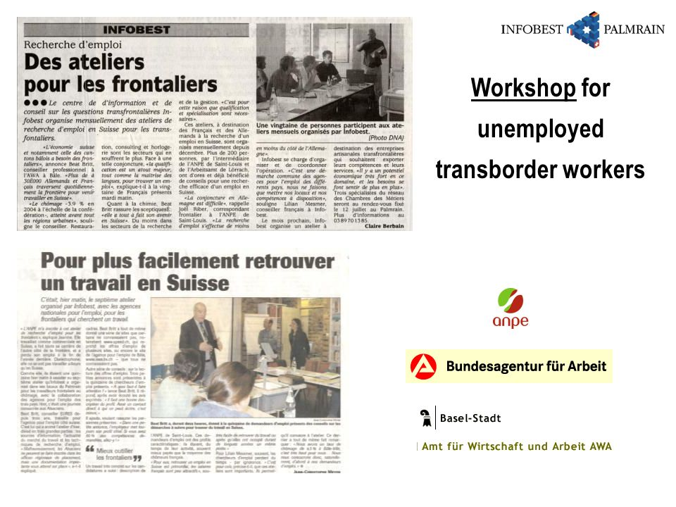 Workshop for unemployed transborder workers