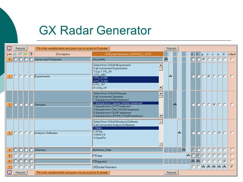 GX Radar Generator