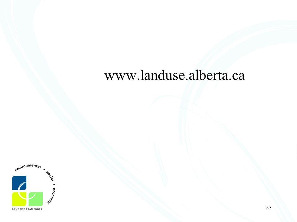 23 www.landuse.alberta.ca