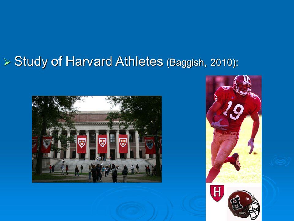 Study of Harvard Athletes (Baggish, 2010): Study of Harvard Athletes (Baggish, 2010):