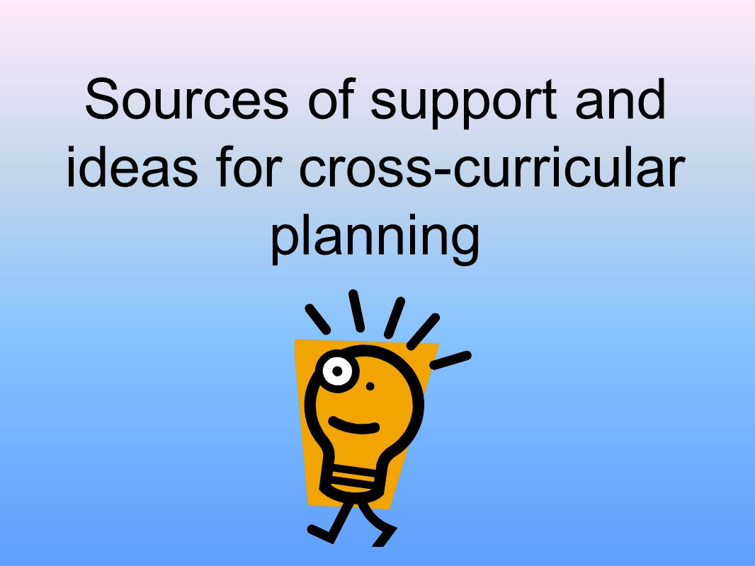Sources of support and ideas for cross-curricular planning
