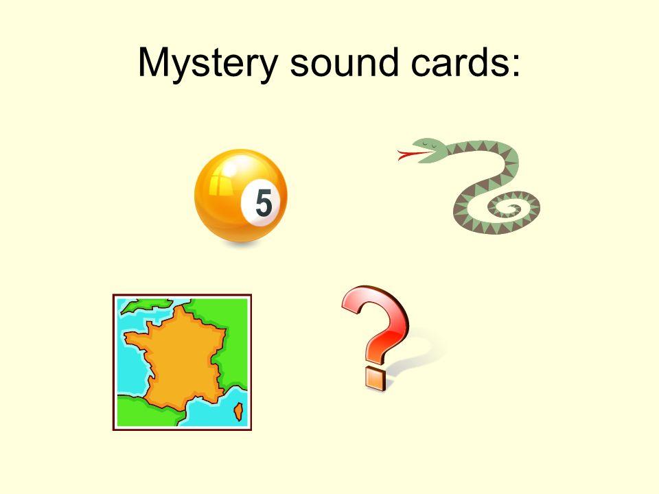 Mystery sound cards: