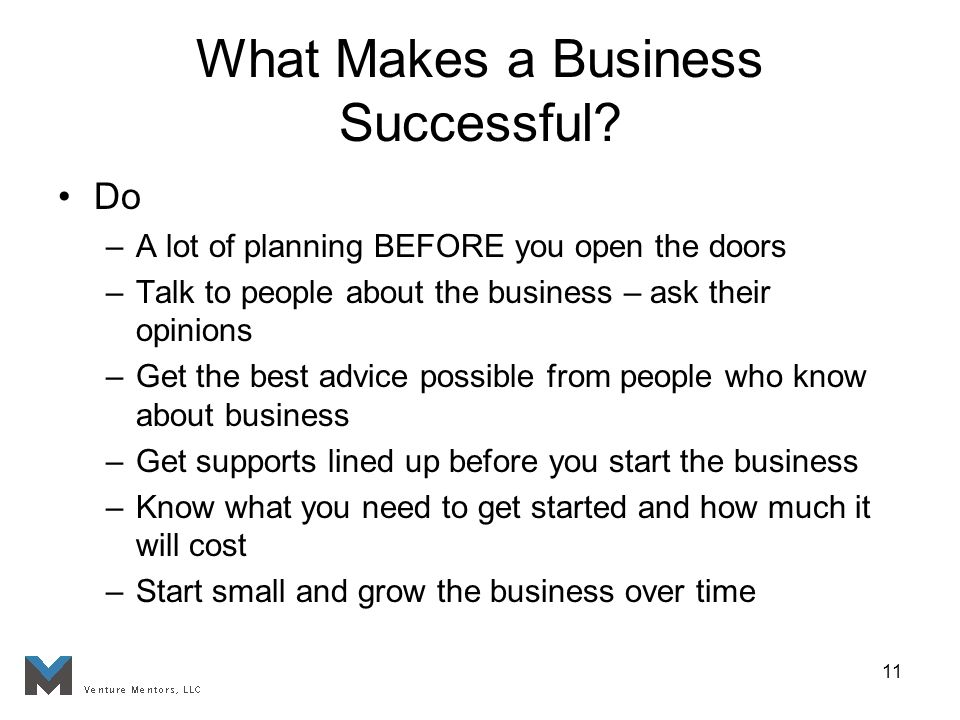 11 What Makes a Business Successful.