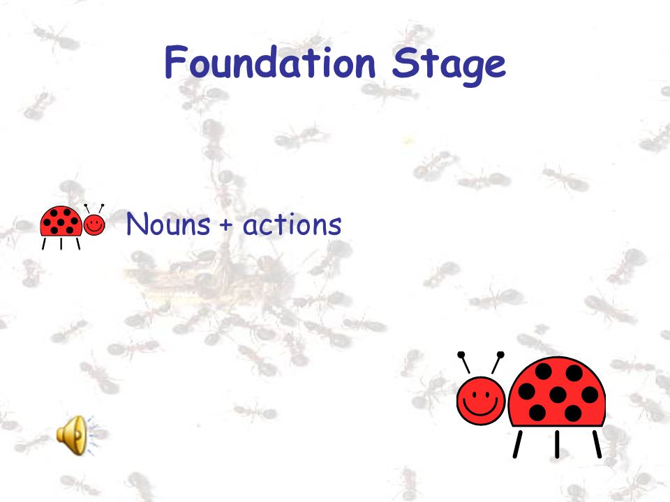 Foundation Stage Nouns + actions
