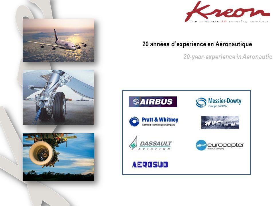 The complete 3D scanning solutions 20 années dexpérience en Aéronautique 20-year-experience in Aeronautic
