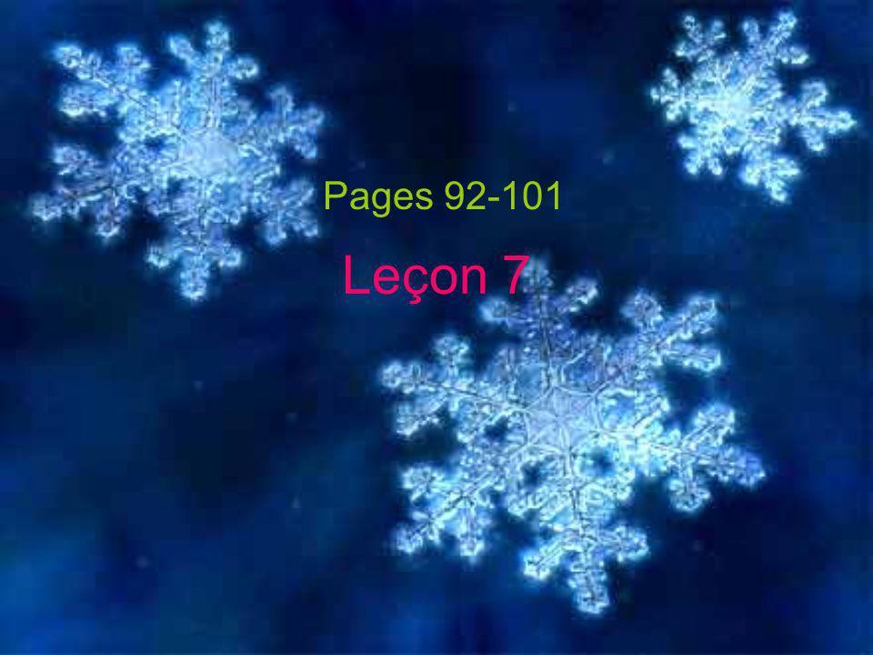 Leçon 7 Pages 92-101