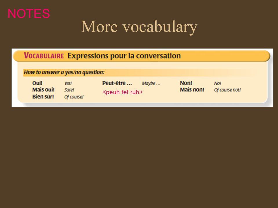 More vocabulary NOTES