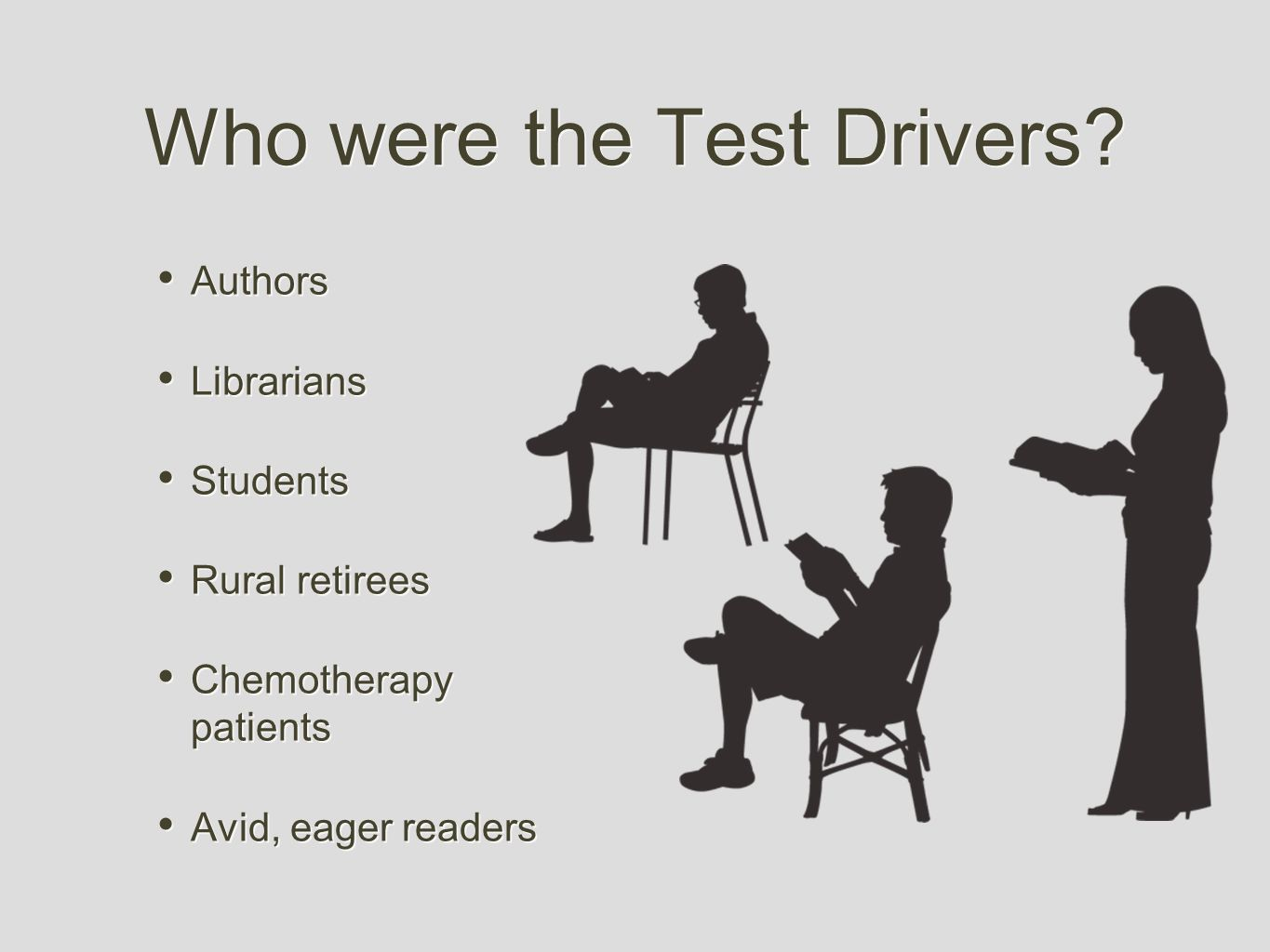 Who were the Test Drivers.