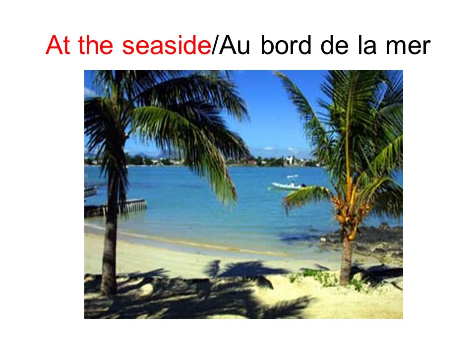 At the seaside/Au bord de la mer