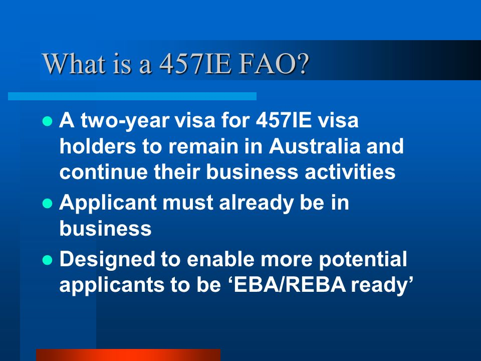 What is a 457IE FAO.