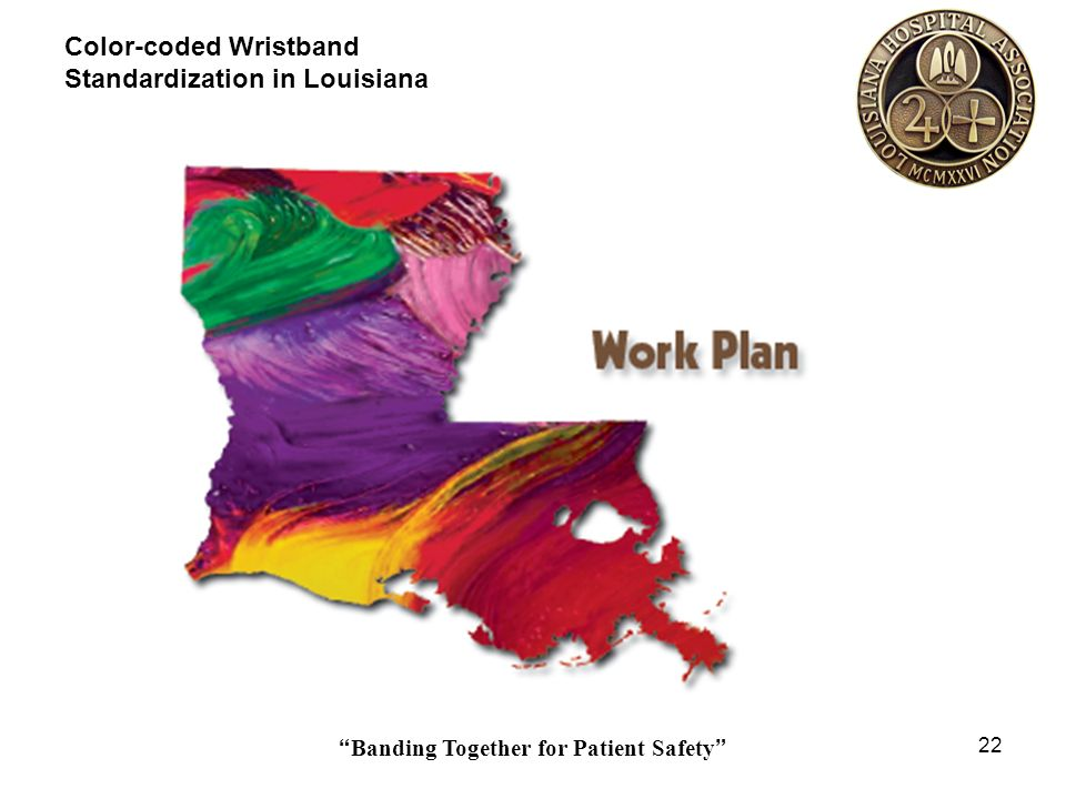 Banding Together for Patient Safety 22 Color-coded Wristband Standardization in Louisiana