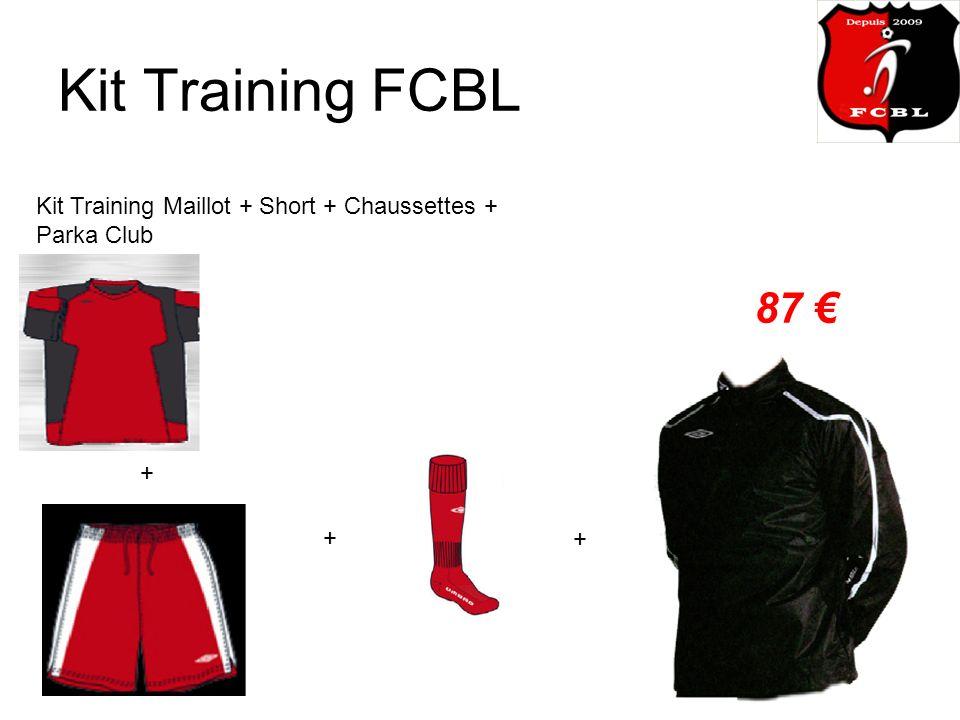 Kit Training FCBL Kit Training Maillot + Short + Chaussettes + Parka Club 87 + + +