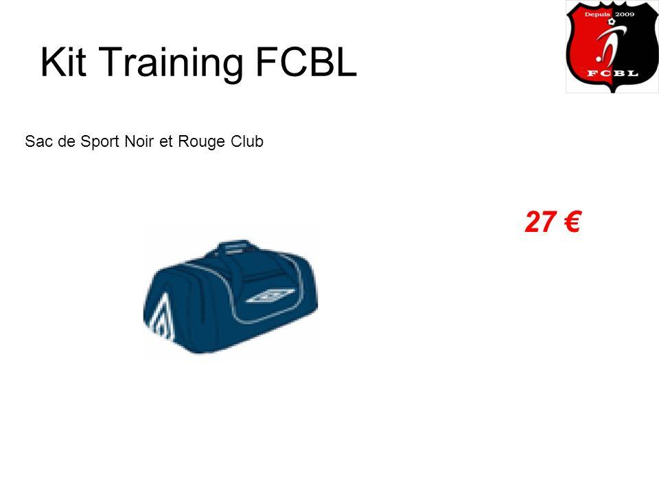 Kit Training FCBL Sac de Sport Noir et Rouge Club 27