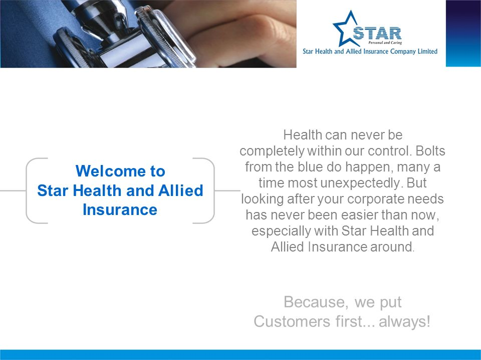Contact Us www.starhealth.in Corporate Office Star Insurance Towers 1,New Tank street,Valluvar kottam high road, Nungambakkam,chennai-600 034 Phone no : 044-28288800.