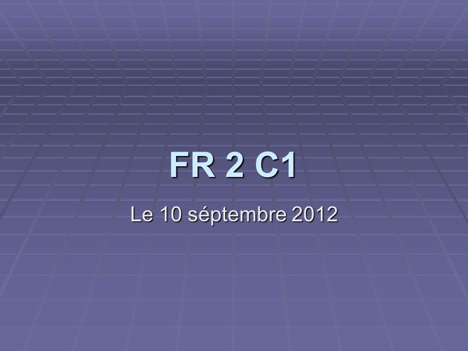 FR 2 C1 Le 10 séptembre 2012