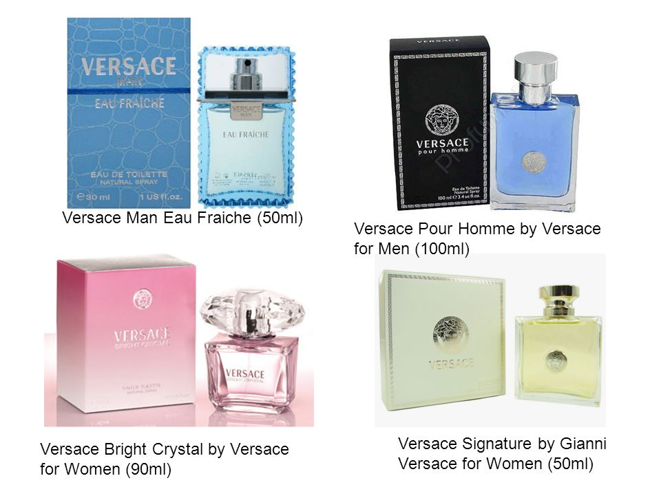 Versace Pour Homme by Versace for Men (100ml) Versace Bright Crystal by Versace for Women (90ml) Versace Signature by Gianni Versace for Women (50ml)