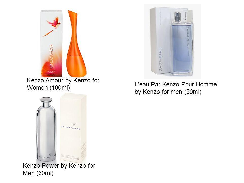Kenzo Amour by Kenzo for Women (100ml) L eau Par Kenzo Pour Homme by Kenzo for men (50ml) Kenzo Power by Kenzo for Men (60ml)