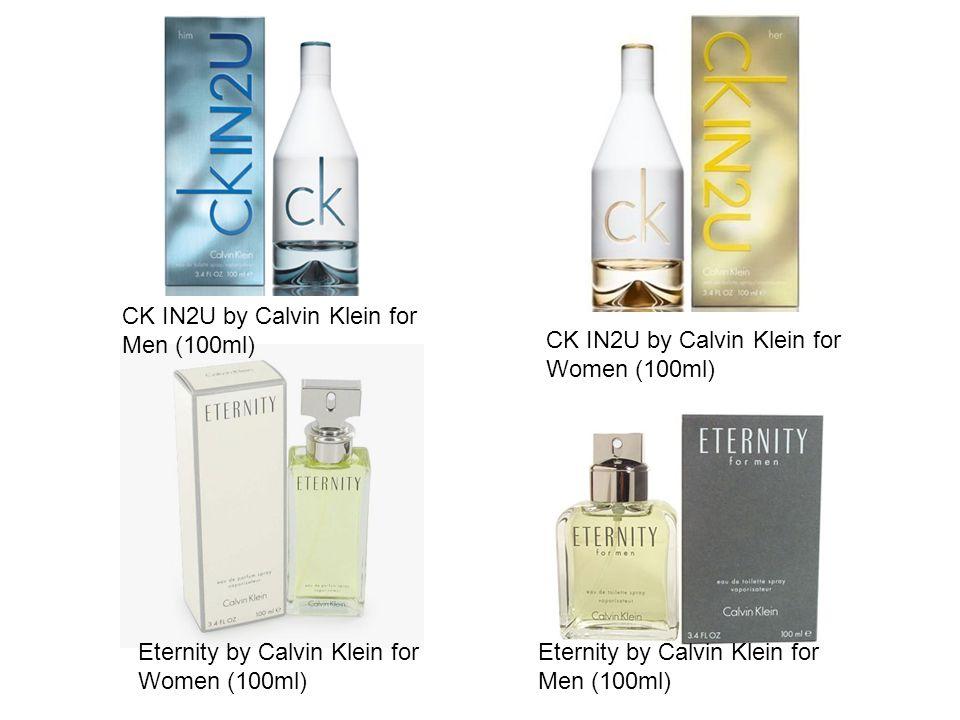 CK IN2U by Calvin Klein for Men (100ml) CK IN2U by Calvin Klein for Women (100ml) Eternity by Calvin Klein for Women (100ml) Eternity by Calvin Klein for Men (100ml)