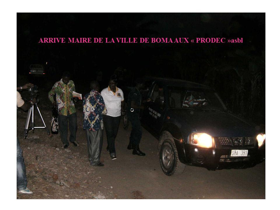 ARRIVE MAIRE DE LA VILLE DE BOMA AUX « PRODEC »asbl