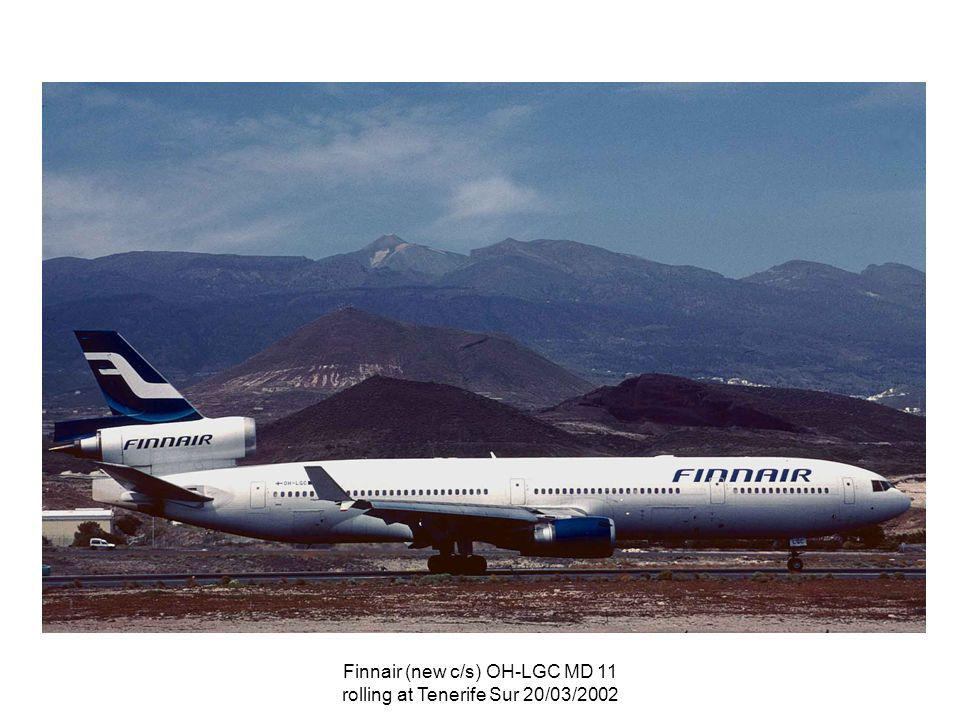 Finnair (new c/s) OH-LGC MD 11 rolling at Tenerife Sur 20/03/2002