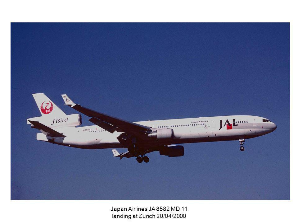 Japan Airlines JA 8582 MD 11 landing at Zurich 20/04/2000