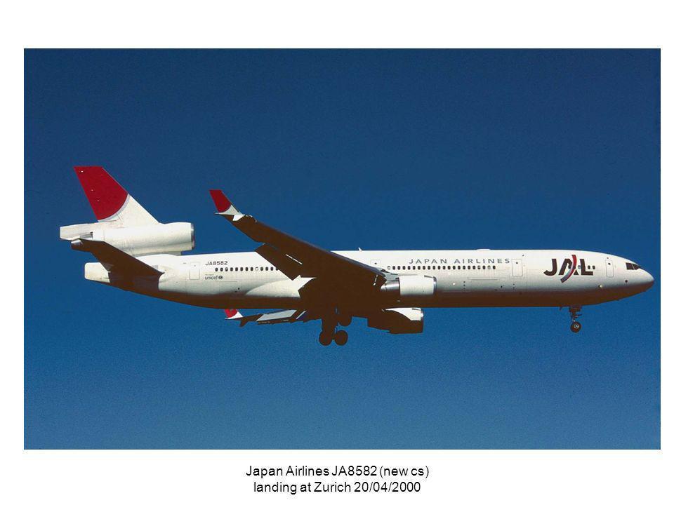 Japan Airlines JA8582 (new cs) landing at Zurich 20/04/2000
