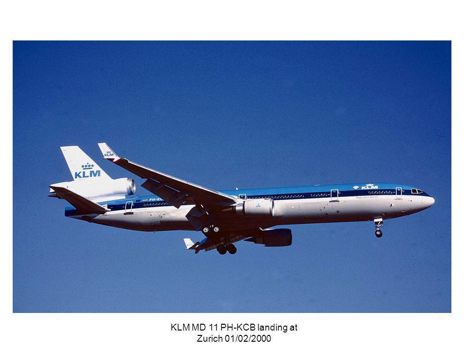 KLM MD 11 PH-KCB landing at Zurich 01/02/2000
